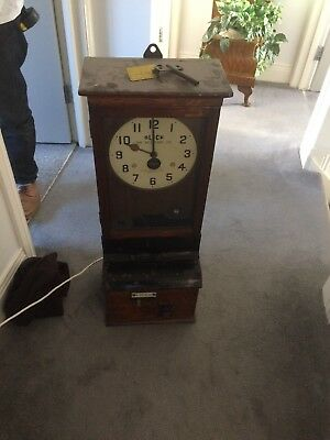 Antique Clocking In Machine with clock by Blick time recording