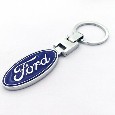 Car Logo Key Chain Ring Metal Alloy Double Sided Keyring for ford² Free Shipping