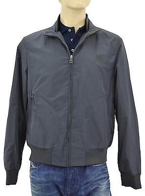 $665 BURBERRY Brit Gray BRADFORD Mens Bomber Jacket NEW COLLECTION