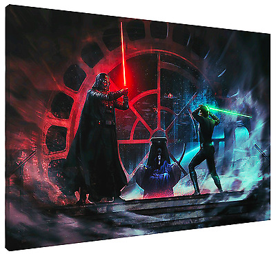 Father Vs Son HD Canvas Art  Print (FRAMED) Fast Shipping! Star Wars Luke Vader