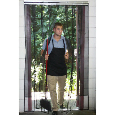 "48"" x 84"" Restaurant Kitchen Mesh Strip Door / Insect Barrier and Bug Curtain"