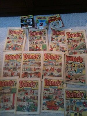 Dandy Comic Job Lot 1985 Run Includes transition to Dandy and Nutty