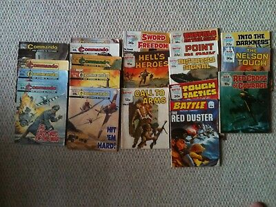 Commando Battle War Picture Library Job Lot From 1980s
