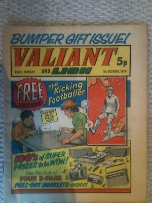 Valiant & Lion Bumper Issue Comic 5th October 1974 FN