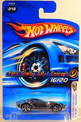 2005 Hot Wheels Faster First Editions #16 Ford Shelby Gr-1 Concept ( Chrome )