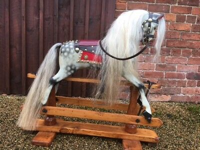 Fully Restored Antique F H Ayres Rocking Horse Christmas Gift Shipping Worldwide