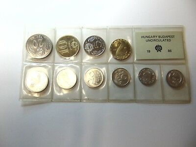 Coin sets of Hungary 1986, in Bank realist Folder....Mint, Mint...