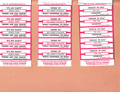 Jukebox Title Strips 100 Count  Lot # 136  R&b Titles Strips  20 Half Sheets