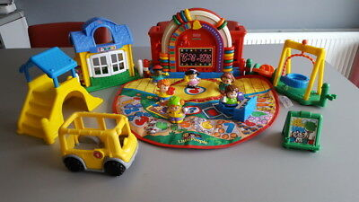 fisher price - école sonore  littles peoples + accessoires