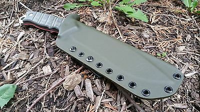 BUCK THUG Custom kydex sheath with TEK-LOK in OD GREEN