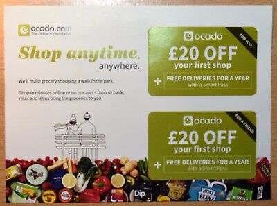 Ocado £20 Off your FIRST shop DISCOUNT CODE COUPON VOUCHER
