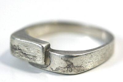 "D313 Stackable Sterling 3.3g 925 Ring top 1/2"" wide"