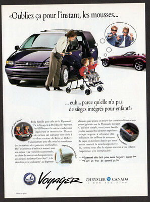 1997 PLYMOUTH Voyager Vintage Original Print AD - Chrysler Prowler french canada