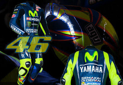 New Valentino Rossi Yamaha Movistar Motorbike Racing Leather suit VR/46 All Size