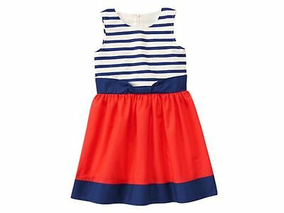 NEW GYMBOREE RED WHITE AND BLUE Girls Striped  Sleeveless Dress NWT SIZE 4