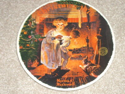 KNOWLES Norman Rockwell CHRISTMAS PLATE 1979 Somebody's Up There Fine China