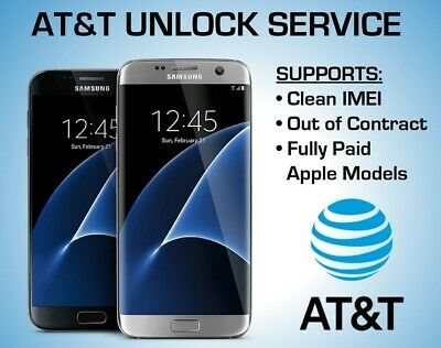 at&t network unlock service usa iPhone 7+ 6S+ 6S clean imei and out of contract