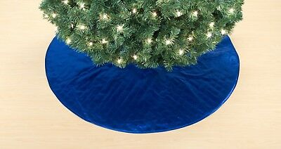 New-Christmas-Tree-Skirt-48-Inch-In-Blue-Santa-Holiday-Home-Decoration-Indoor