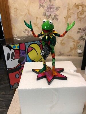 Romero Britto Muppets Movie Kermit the Frog Collectible Pop Art Figurine 8 1/4""