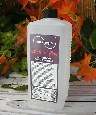 1 Litre Produit Analogis Wash'n'play Fluid Lavage Disque Vinyle