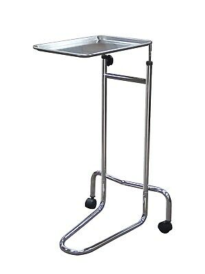 Mayo Medical Instrument Stand Tray Table, Double Post