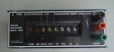 Time Electronics Decade Resistance Type 1040 Model 8000