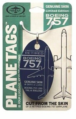 MotoArt Plane TagBOEING 757 TAIL# N902AW (White Color Tag Only)