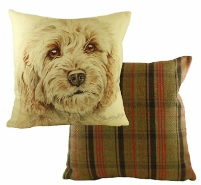 Adorable Cockerpoo Dog Cushion with inner By Evans Lichfield - Waggy Dogz