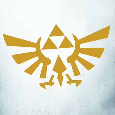 Triforce Zelda Car/Laptop/Wall Art/Window Vinyl Decal Sticker Gold