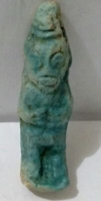 Egyptian Amulet, Bes, Protector of Households, Mothers& Children Amulet Faience