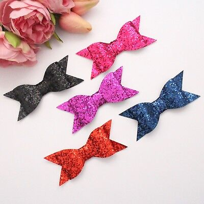 1 x glitter bow for millinery, hair, crafts