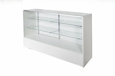 Glass Display Counter 1500L- White
