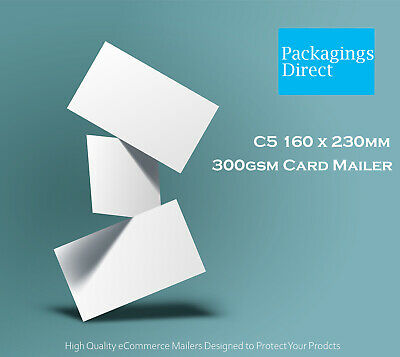 200 #01 Card Mailer 160x230mm 300GSM Envelope - A5 C5 Size Tough Bag Replacement
