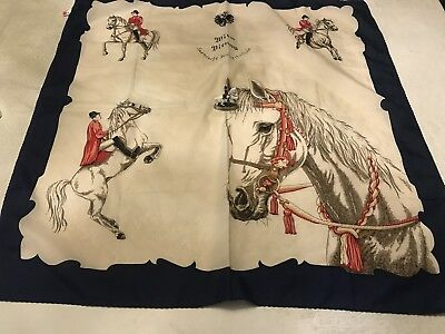 Spanish Riding School Vienna Lipizzaner Horse Scarf & Metal Figure