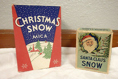 Lot of 2 boxes mica Christmas Snow Santa Claus 1 sealed