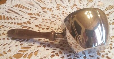 Friedman Silver Co 2425 Plated Gravy sterling Pot Wood Handle Pouring ladle tea