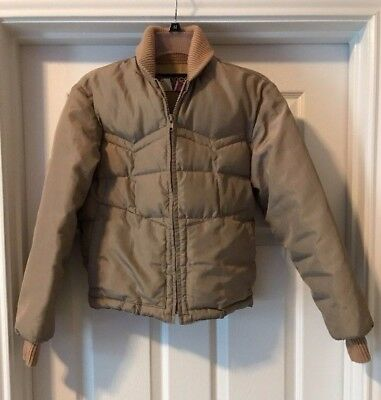 TEMPO vtg Western Quilted Goose Down USA field Jacket Coat Boys 10