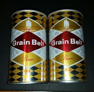 Grain belt test beer cans empty air tight, rare
