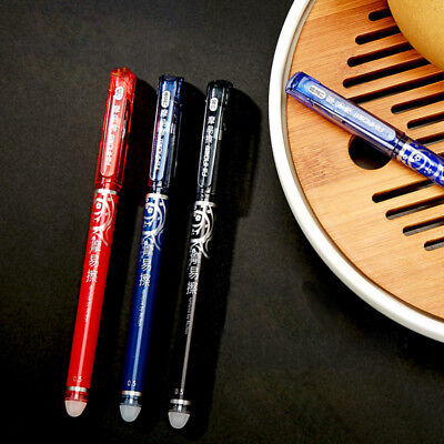0.5mm 3 Color Erasable Gel Pen Rollerball Magical Writing Rollerball Stationery
