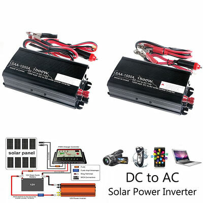 3000W Peak Solar Power Inverter 12V DC To 110V AC Modified Sine Wave Converter