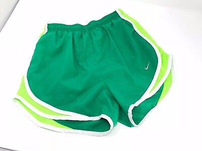 NIKE Women's DRI-FIT Tempo Running Shorts Athletic Gym Size S Small 4-6 Green