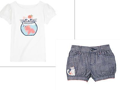NEW GYMBOREE Girls Top And  Bloomer Shorts Outfit  Size 18-24 MONTHS