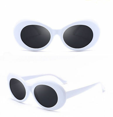 White Clout Goggles Vintage Classic Kurt Cobain Sunglasses Oval Shades Hypebeast