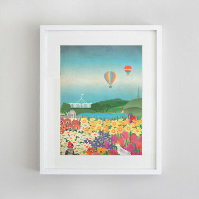 Canberra from Above French Australian Artist Prints Limited