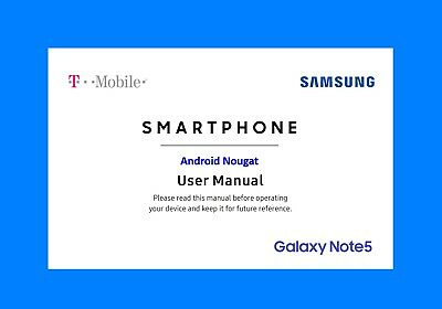 Samsung Galaxy Note5 User Manual for T-Mobile (model SM-N920T, Android Nougat)
