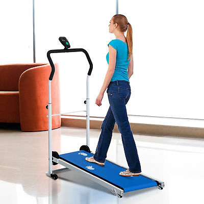 HOMCOM Walking Treadmill for Home Gym Fitness Workout with 2 Incline Levels LCD