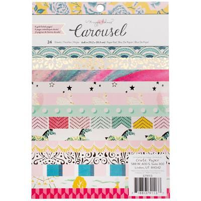 Maggie Holmes Carousel Paper Pad - 8 x 8 inch, Scrapbooking, Craft, Cardmaking