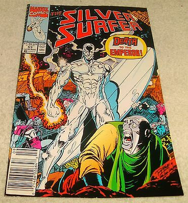 Marvel Comics Silver Surfer Vol 3 # 53 Vf- Infinity Gauntlet X-Over