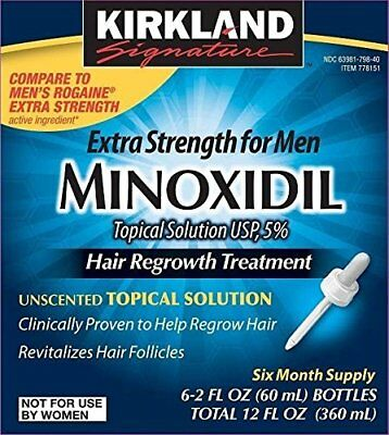 Minoxidil for Men 5% Minoxidil Hair Regrowth Treatment 12 Months Supply 1 Year
