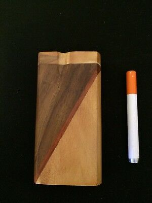 wooden dugout with false cigarette